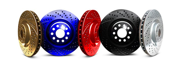 Rotors With Stylish Anodized Finishes