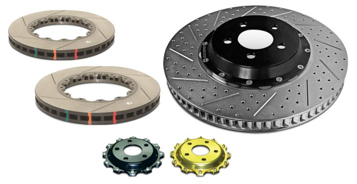 Assembled / Disassembled 2-Piece Disc Brake Rotor