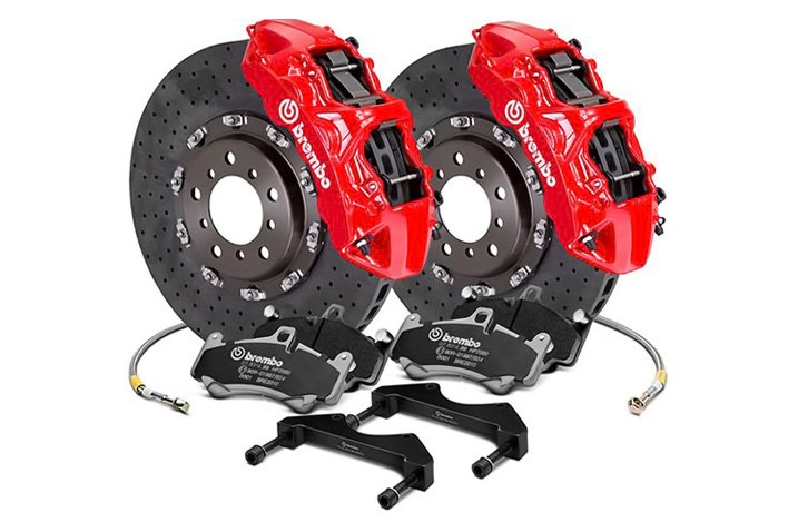 Brembo GT Series 2-piece CCM-R Cross Drilled Brake Kit