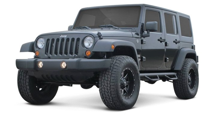 "Jeep Wrangler With 2.5"" Ride Height Increase"