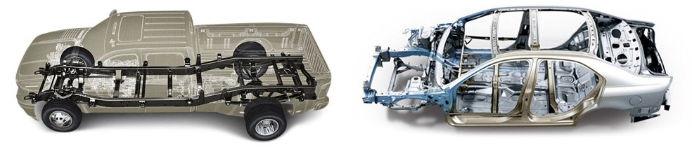 Differences Between Body On Frame Vehicle Construction And Vehicle With Unibody Construction