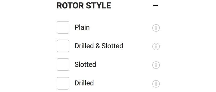 Rotor Style Options