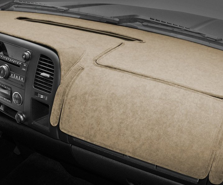 Beige Coverking Suede Custom Dash Cover