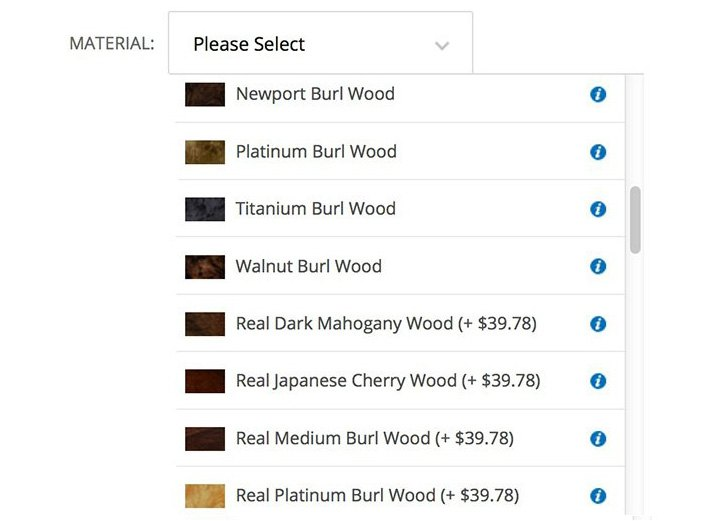 Dash Kit Materials Options
