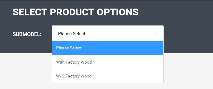 Factory Wood Options