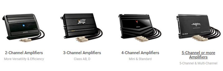Amplifiers With Different Number Of Channels