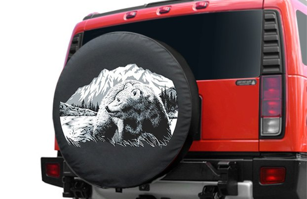 Boomerang Wildfire Tire Cover With Bear