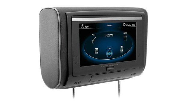 Power Acoustik Headrest Touchscreen Monitor With DVD Player