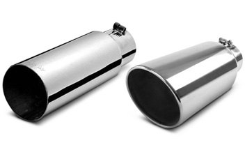Rolled Exhaust Tip With Metal Edge