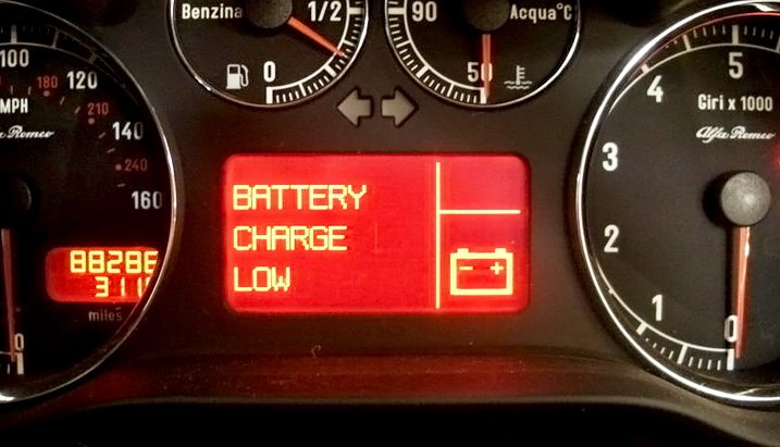 Low Battery Charge Warning Sign