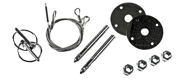 Mr. Gasket Competition Hood And Deck Pinning Kit