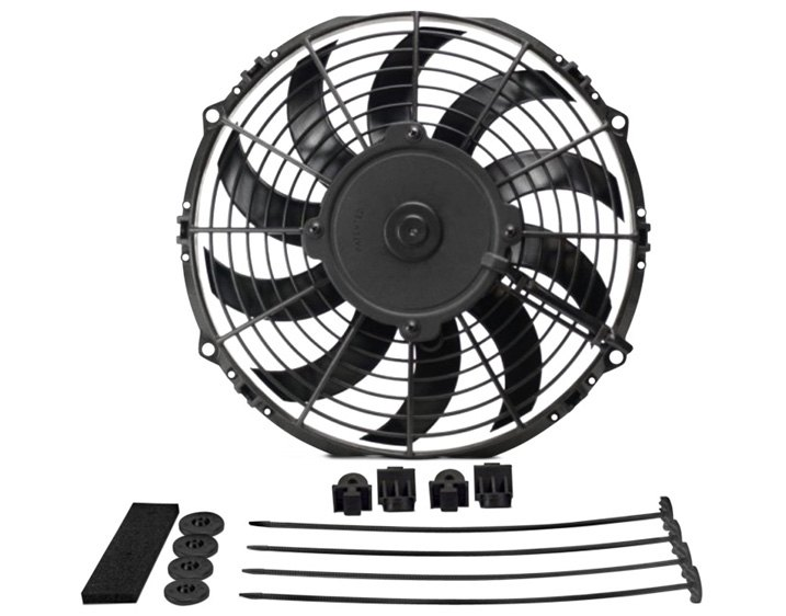 Derale Performance High Output Curved Blade Electric Puller Fan