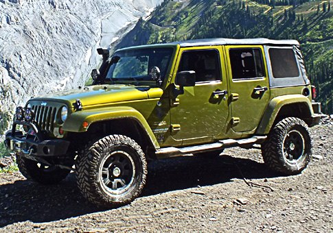"Jeep Wrangler With 3"" Of Lift With 33"" Tires"