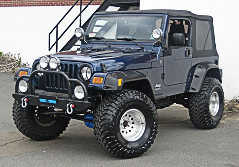 "Jeep Wrangler With 4"" Of Lift With 35"" Tires"