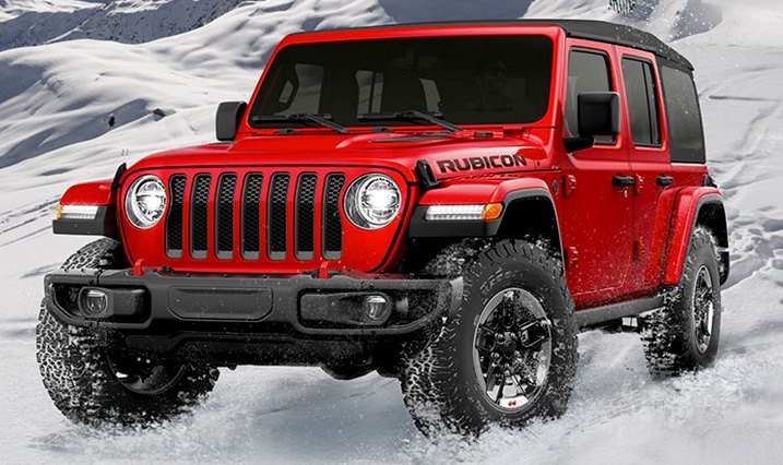 New For 2018 Jeep JL Wrangler Body In Red