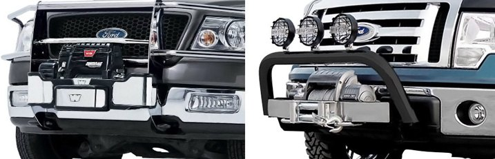 Bull Bars Equipped With Optional Trays