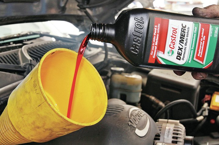 Pour Transmission Fluid Into Dipstick