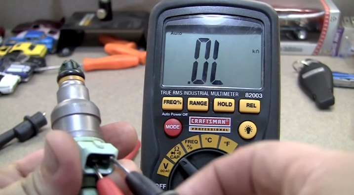 Fuel Injector Testing Ohmmeter
