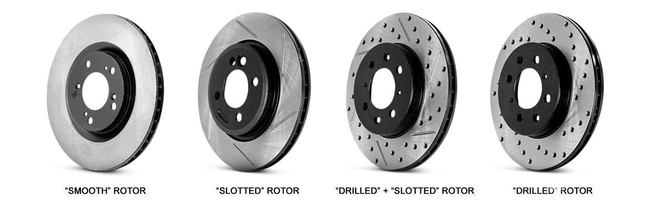 Rotors With Slotted / Drilled Surfaces