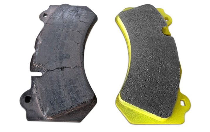 Old and New Brake Pads