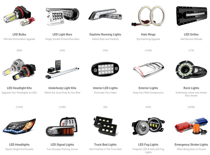 LED Lights Section