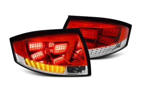 Spec-D LED Tail Lights Equipped With Amber Turn Signal