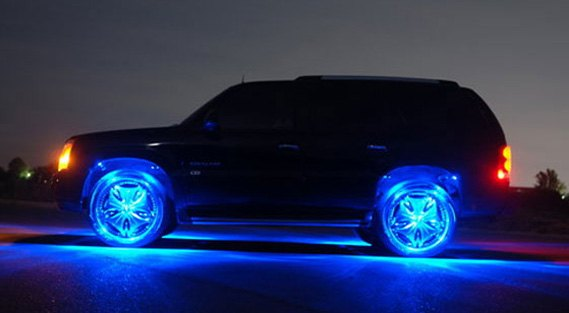 LED Lighting Wheel Kit In Blue Color