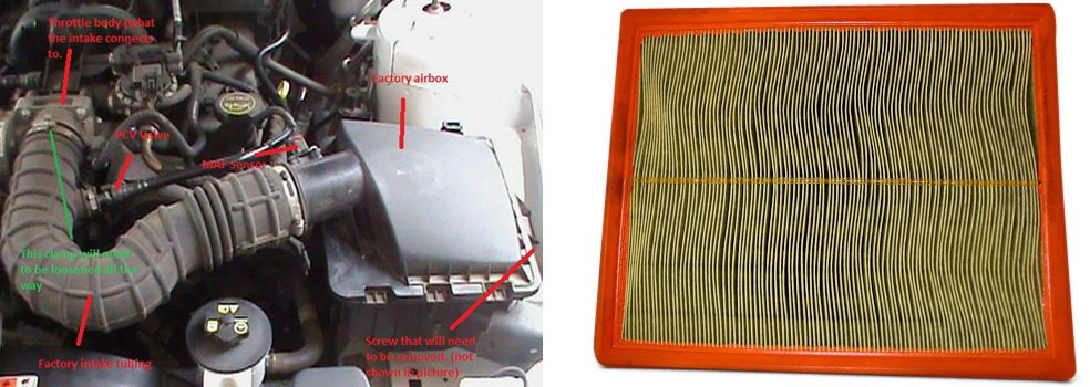 Typical OEM Factory Air Intake Setup Which Houses Flat Air Filter