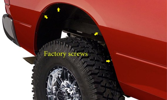 Factory Screws Position Shown