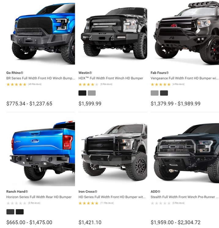 Off-Road Front Bumper Options