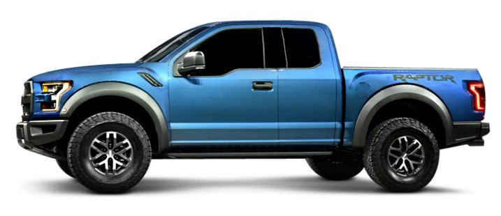 Ford F-150 Raptor Extended Cab Blue