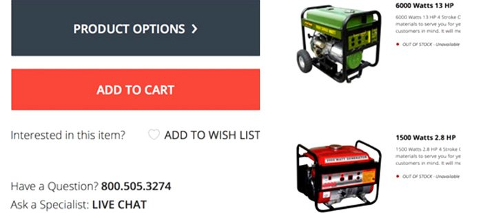 Portable Generators Product Options