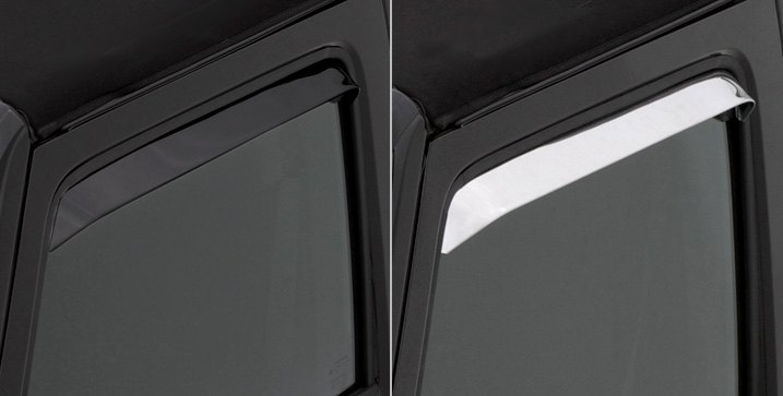 AVS VentShade Window Deflectors In Polished/Black Coating