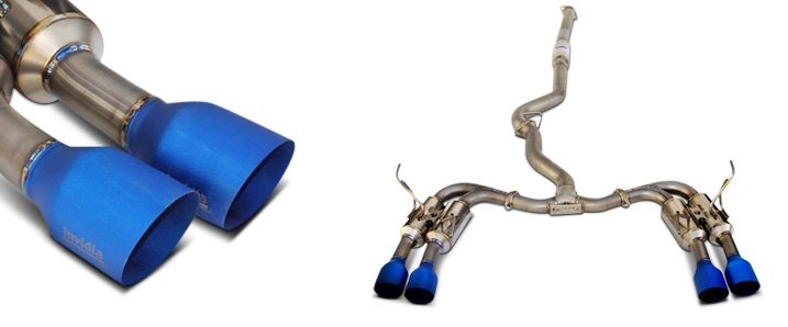 Invidia Gemini Cat-Back Exhaust System with Quad Rear Exit For Subaru WRX