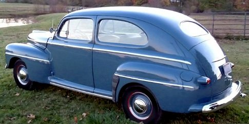 1948 Ford Equipped With Slim Running Boards