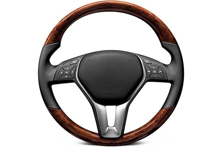 Aftermarket Replacement Steering Wheel Made Of Natural Materials