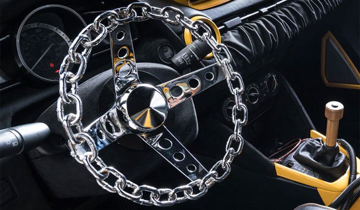 Lightweight All-Metal Steering Wheel