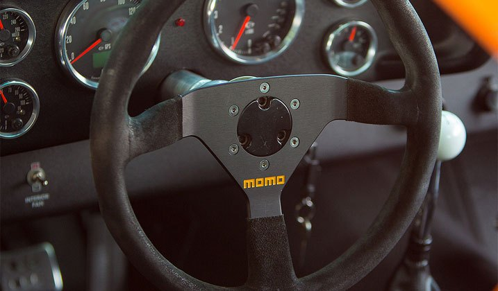 Momo Suede Covered Steering Wheel