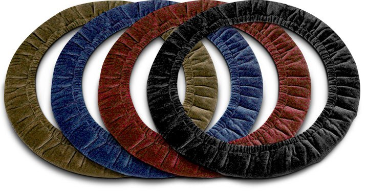 Velour & Sheepskin Cloth Steering Wheel Covers Variety