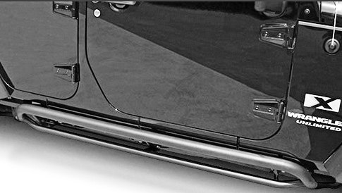 Rampage Rocker Panel Guard Side Steps In Retracted Position