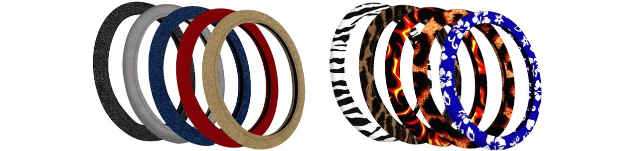 Coverking Velour Steering Wheel Covers