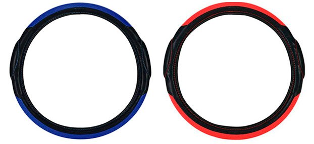 Pilot Racing Style Steering Wheel Covers Blue/Red
