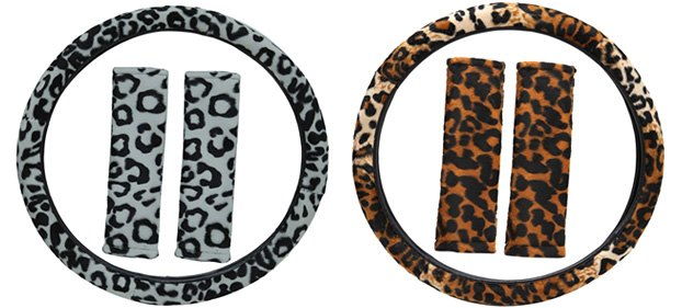 Torxe Leopard Animal Print Steering Wheel Covers