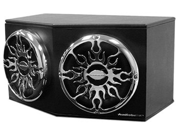 The Audiobahn Murdered Out Series Dual 12inch ported enclosure subwoofer box