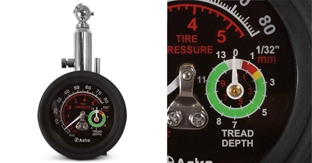 Astro Pneumatic Tire Pressure/Tread Depth Gauge.