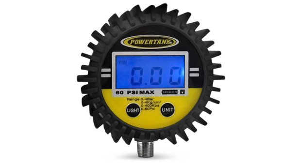 Power Tank 150psi Digital Tire Gauge