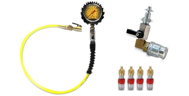 Power Tank Hands-Free Tire Pressure Gauge