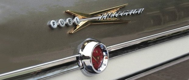 Fuel Injected Car Badge