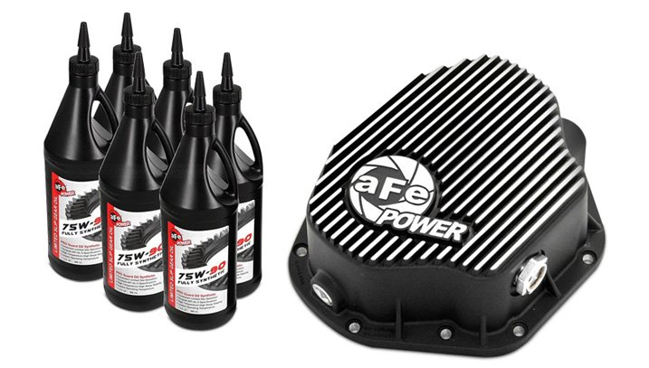 aFe Finned Diff Cover With Gear Oil