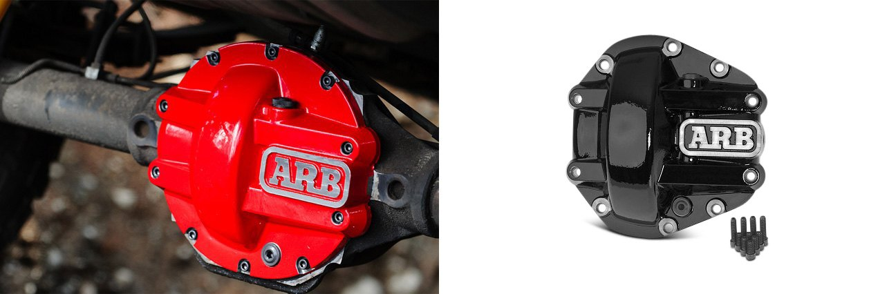 Red/Black ARB Iron Differential Covers